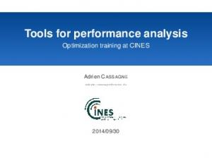 Tools for performance analysis