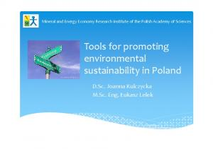Tools for promoting environmental sustainability in Poland