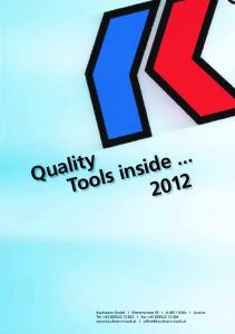 Tools inside Quality