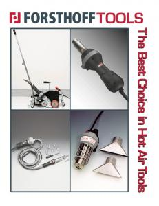 TOOLS The Best Choice in Hot Air Tools