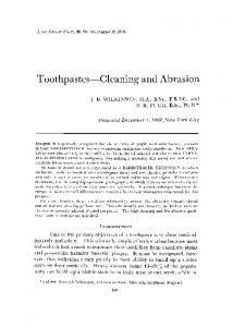 Toothpastes--Cleaning and Abrasion