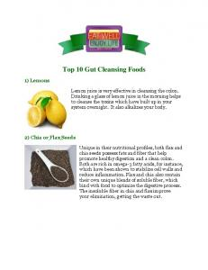 Top 10 Gut Cleansing Foods