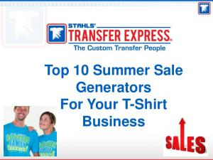 Top 10 Summer Sale Generators For Your T-Shirt Business