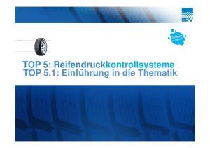 TOP 5: Reifendruckkontrollsysteme