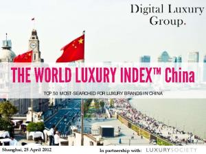 TOP 50 MOST-SEARCHED FOR LUXURY BRANDS IN CHINA