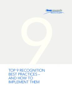 TOP 9 RECOGNITION BEST PRACTICES AND HOW TO IMPLEMENT THEM