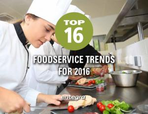 TOP FOODSERVICE TRENDS FOR 2016