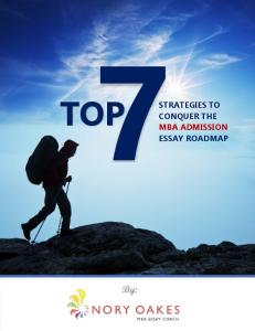 TOP STRATEGIES TO CONQUER THE MBA ADMISSION ESSAY ROADMAP. By: