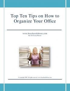 Top Ten Tips on How to Organize Your Office