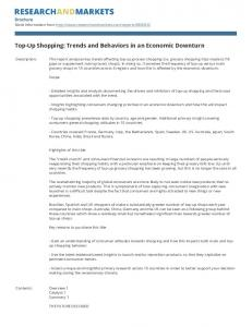 Top-Up Shopping: Trends and Behaviors in an Economic Downturn