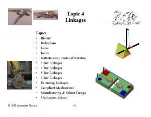 Topic 4 Linkages. Topics