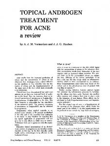 TOPICAL ANDROGEN TREATMENT FOR ACNE a review