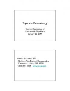 Topics in Dermatology