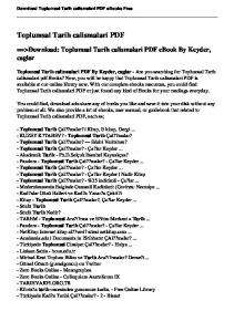 Toplumsal Tarih calismalari PDF