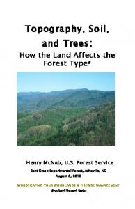Topography, Soil, and Trees: