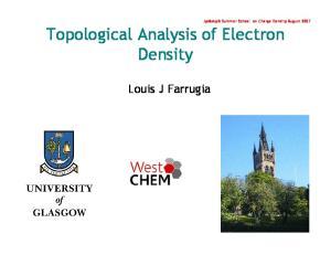 Topological Analysis of Electron Density