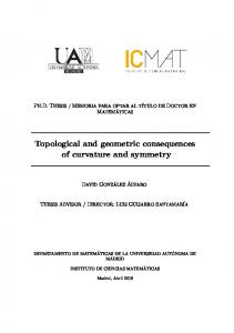 Topological and geometric consequences of curvature and symmetry