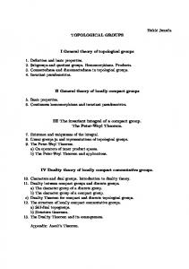 TOPOLOGICAL GROUPS. I General theory of topological groups