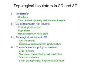 Topological Insulators in 2D and 3D