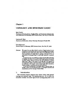 TOPOLOGY AND EPISTEMIC LOGIC