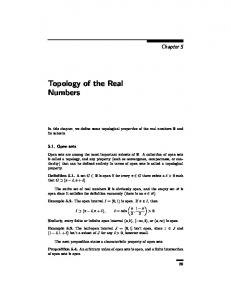 Topology of the Real Numbers