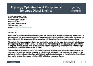 Topology Optimization of Components for Large Diesel Engines