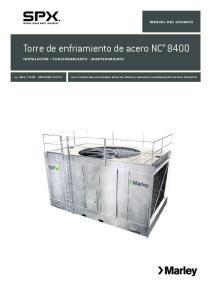 Torre de enfriamiento de acero NC 8400