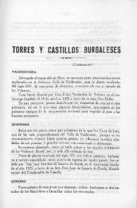 TORRES CASTILLOS BURGALESES