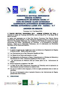 Torrevieja, 4 al 13 de Marzo 2016