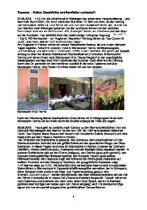 Toscana Kultur, Geschichte und herrliche Landschaft