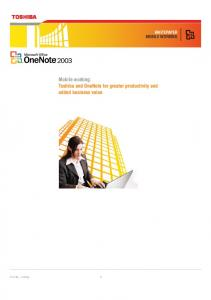 Toshiba and OneNote for greater productivity and added business value
