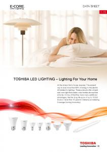 TOSHIBA LED LIGHTING Lighting For Your Home