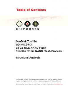 Toshiba SDIN4C2-8G 32 Gb MLC NAND Flash Toshiba 32 nm NAND Flash Process