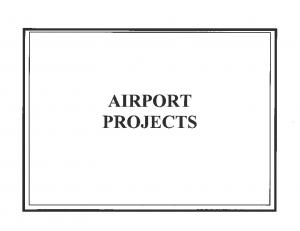 TOTAL AIRPORT PROJECTS DOLLARS IN THOUSANDS I