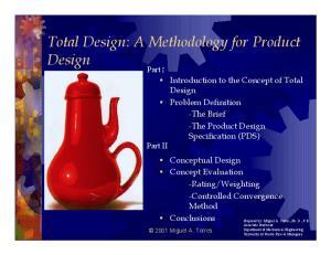 Total Design: A Methodology for Product Design