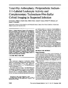 Total-Hip Arthroplasty: Periprosthetic Indium LabeledLeukocyteActivityand