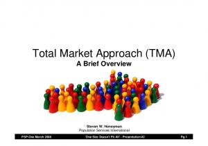 Total Market Approach (TMA) A Brief Overview