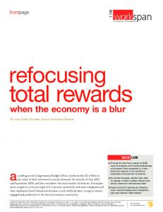 total rewards when the economy is a blur
