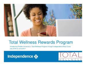 Total Wellness Rewards Program