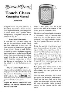 Touch Chess Operating Manual