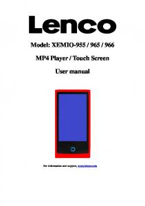 Touch Screen. User manual