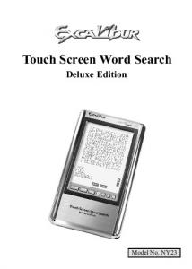 Touch Screen Word Search Deluxe Edition