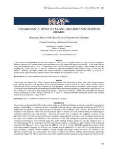 TOUGHENING OF EPOXY BY SILANE-TREATED NANOTITANIUM DIOXIDE