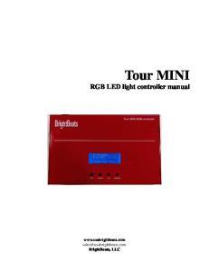 Tour MINI RGB LED light controller manual
