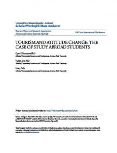 TOURISM AND ATTITUDE CHANGE: THE CASE OF STUDY ABROAD STUDENTS