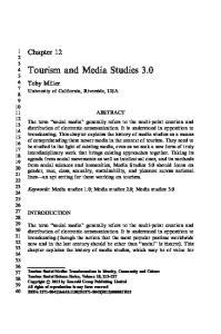 Tourism and Media Studies 3.0