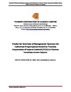 TOURISM CORPORATION OF GUJARAT LIMITED (A