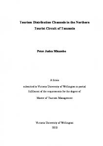 Tourism Distribution Channels in the Northern Tourist Circuit of Tanzania