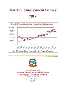 Tourism Employment Survey 2014
