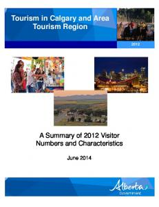 Tourism in Calgary and Area Tourism Region
